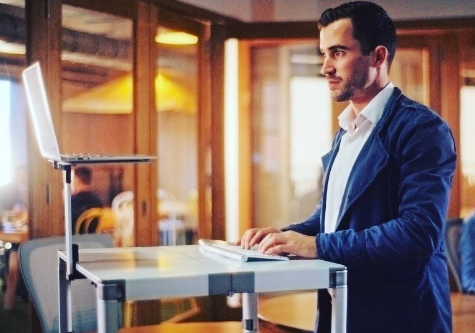 Man working at Standing Desk